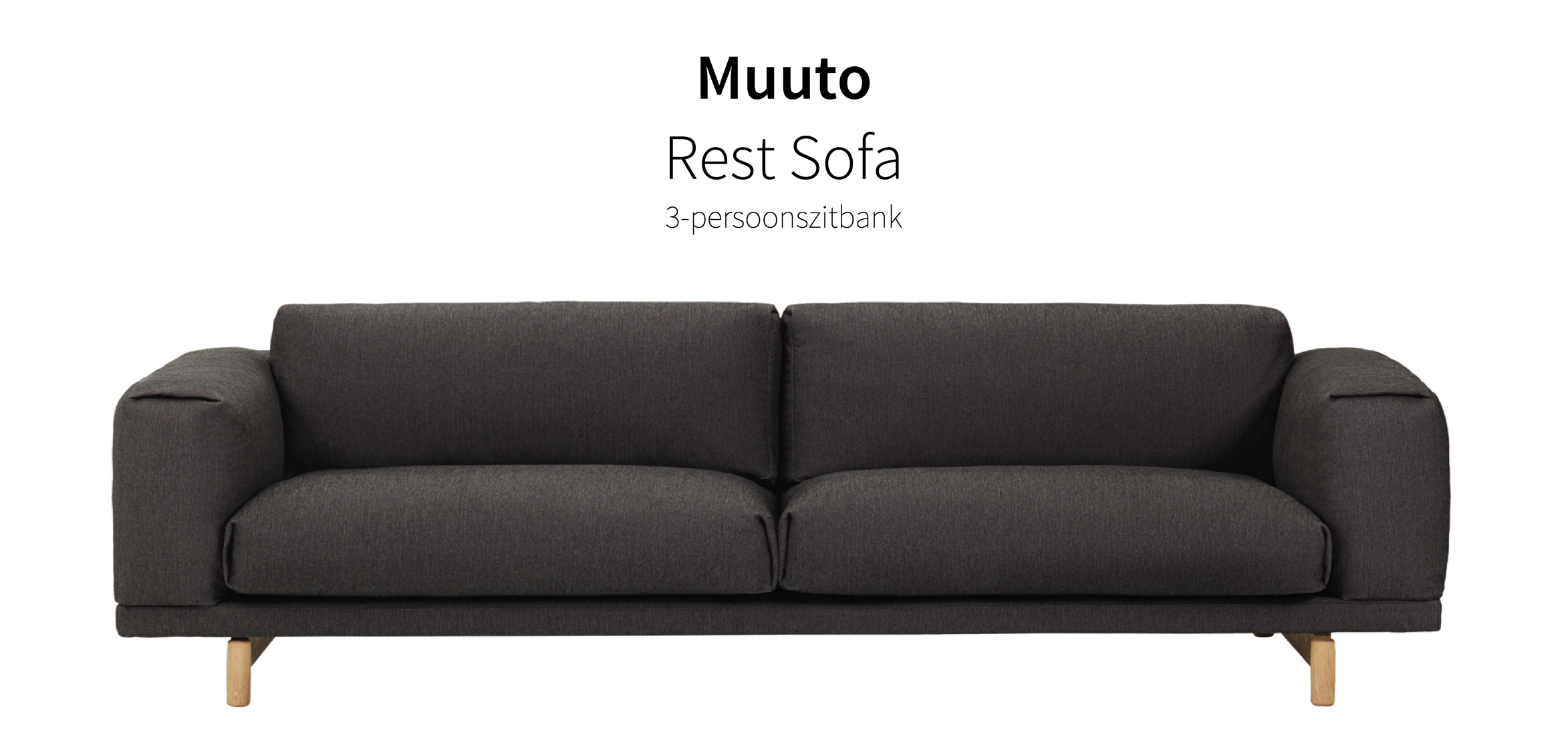 muuto rest sofa 3 zitsbank. Black Bedroom Furniture Sets. Home Design Ideas
