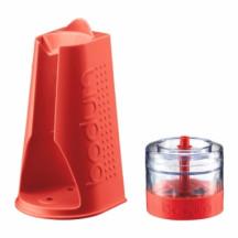 Bodum mixerhouder met accessoires rood
