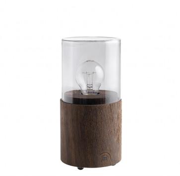 The Oak Men Lantern Lamp (gerookte eik/smoked glas)