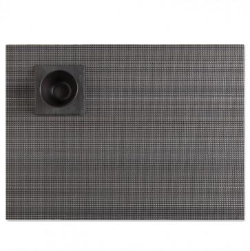 Chilewich placemat multi stripe granite