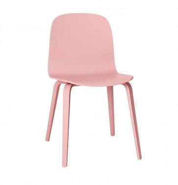 Muuto Visu Chair Wood Frame roze