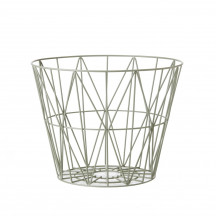 Ferm Living Wire Basket large dusty green