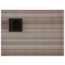 Chilewich placemat multi stripe champagne