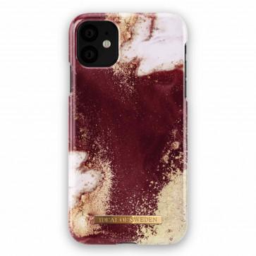 iDeal of Sweden Case iPhone 11 golden burgundy marble
