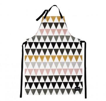 Ferm Living keukenschort Multi Triangle