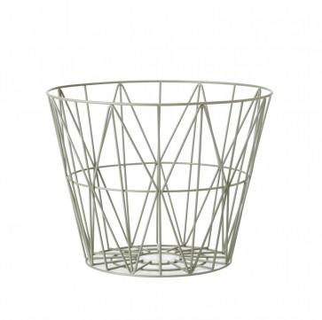 Ferm Living Wire Basket large dusty green