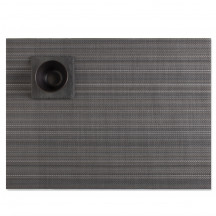 Chilewich placemat multi stripe granite
