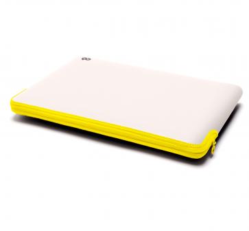 C6 Zip Sleeve 13-inch MacBook Air/Pro Retina stone/neon geel