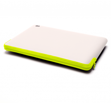 C6 Zip Sleeve 13-inch MacBook Pro stone/neon groen