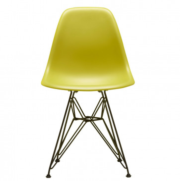 Vitra Eames Plastic Side Chair DSR zwart onderstel