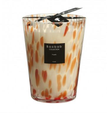 Baobab geurkaars coral Pearls Max 24