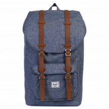 Herschel rugzak Little America dark chambray crosshatch/tan