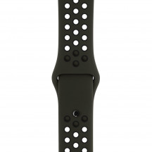 Apple Watch sportbandje van Nike cargo khaki/zwart