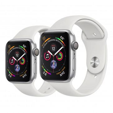 Apple Watch Series 4 zilver aluminium met wit sportbandje