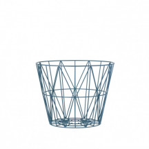 Ferm Living Wire Basket small petrol