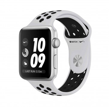 Apple Watch Series 3 Nike+ zilver aluminium 42 mm met platina/zwart Nike sportbandje