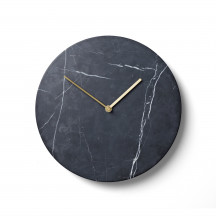 Menu Norm Wall Clock zwart marmer
