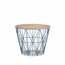 Ferm Living Wire Basket Table small petrol
