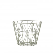 Ferm Living Wire Basket small dusty green