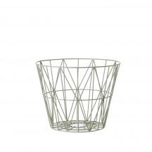 Ferm Living Wire Basket small dusty green