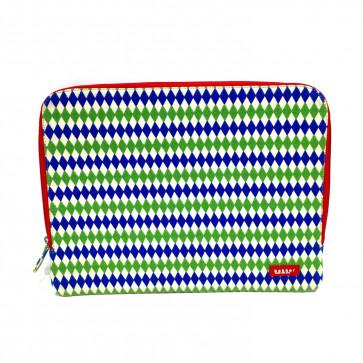 Bakker 13-inch laptop sleeve wit/blauw/groen