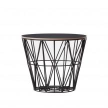 Ferm Living Wire Basket Table medium zwart