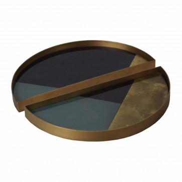 Ethnicraft Geometric half-moon trays