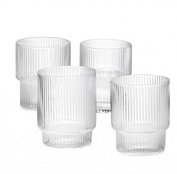 Ferm Living Ripple Glass (set van 4 stuks)