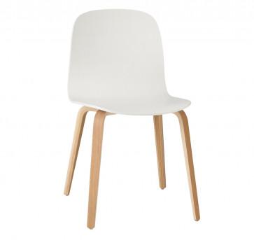 Muuto Visu Chair Wood Frame eik/wit
