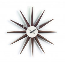 Vitra Sunburst Clock walnoot
