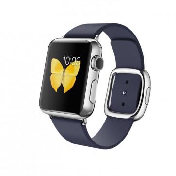 Apple Watch roestvrij staal 38mm middernachtblauw bandje moderne gesp