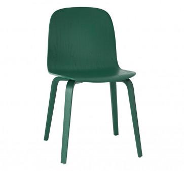 Muuto Visu Chair Wood Frame groen
