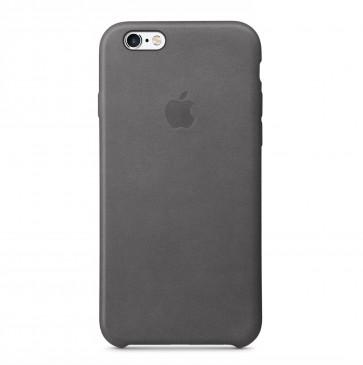 Apple iPhone 6s leather case stormgrijs