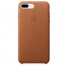 Apple iPhone 8 Plus/7 Plus leren hoesje zadelbruin