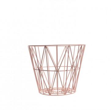 Ferm Living Wire Basket small roze