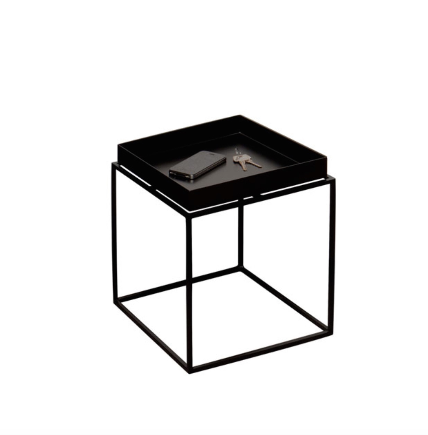 hay tray table small zwart. Black Bedroom Furniture Sets. Home Design Ideas