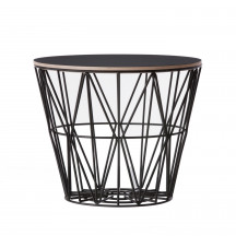 Ferm Living Wire Basket Table large zwart