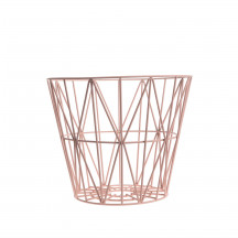 Ferm Living Wire Basket medium roze