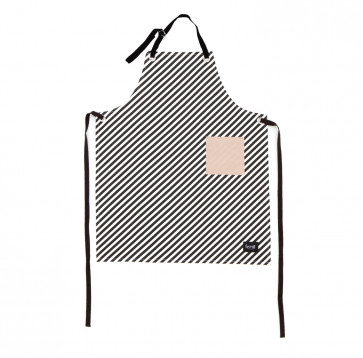 Ferm Living keukenschort black stripe