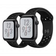 Apple Watch Series 4 Nike+ spacegrijs aluminium met antraciet/zwart Nike sportbandje
