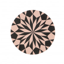 Ferm Living Star brood- en snijplank zwart/roze