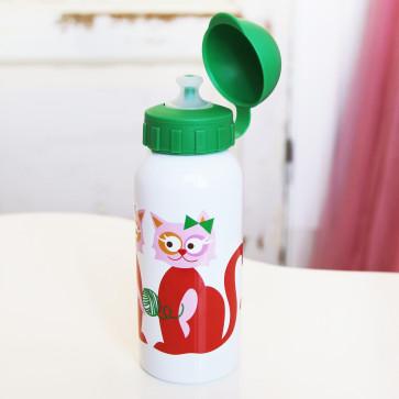 Blafre drinkfles rode kat