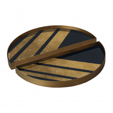 Ethnicraft Chevron half-moon trays