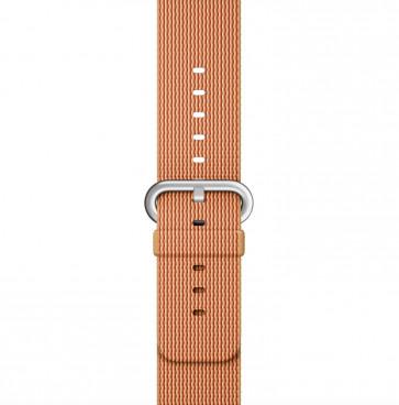 Apple Watch goud/rood geweven nylon bandje