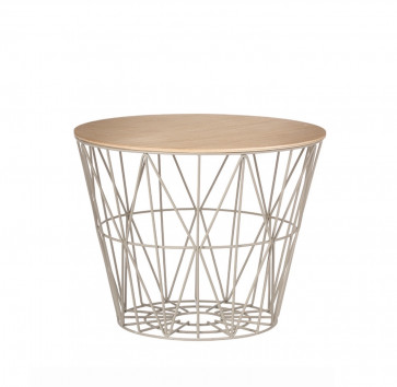Ferm Living Wire Basket Table medium grijs