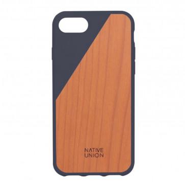 Native Union Clic Wooden iPhone 7 marineblauw