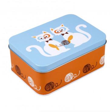 Blafre lunchbox blauwe katten