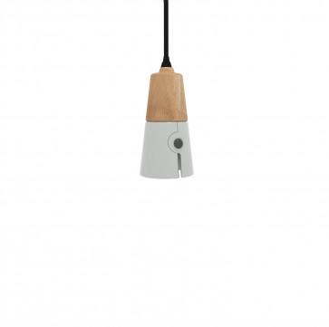 Universo Positivo Cone hanglamp long agate grijs