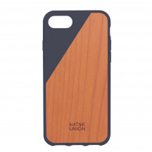 Native Union Clic Wooden iPhone 7 marineblauw