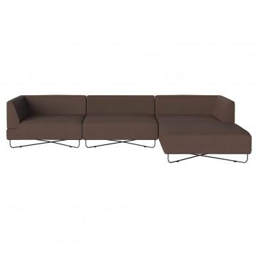 Bolia Orlando 3-zitsbank met chaise longue